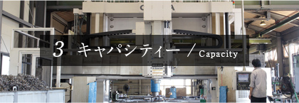 3 キャパシティー / Capacity